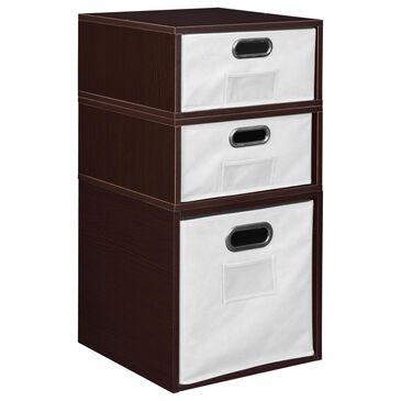 Regency Global Sourcing Niche Cubo 3-Piece Storage Set with Half Drawers in Truffle/White, , large