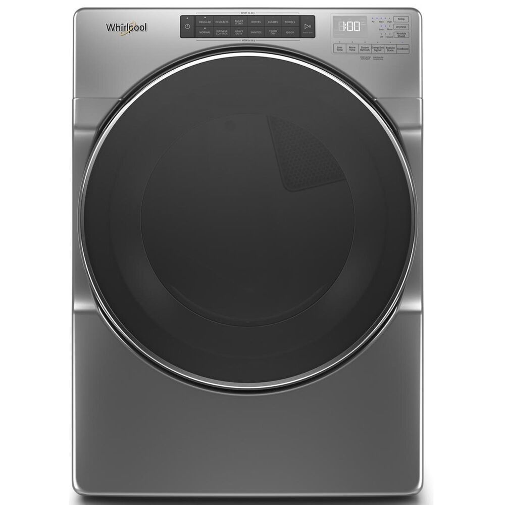 Whirlpool 7.4 Cu. Ft. Front Load Electric Dryer with Steam in Chrome Shadow, , large