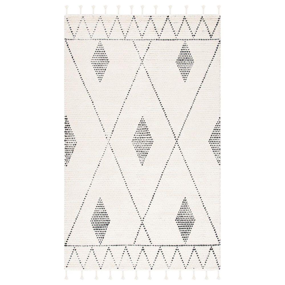 Safavieh Casablanca CSB489A 4' x 6' Ivory and Black Area Rug, , large