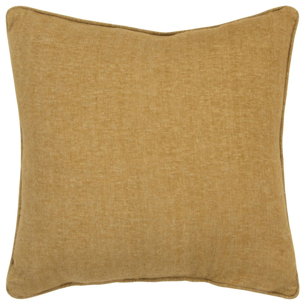 """Rizzy Home Solid 20"""" Poly Filled Pillow in Gold, , large"""
