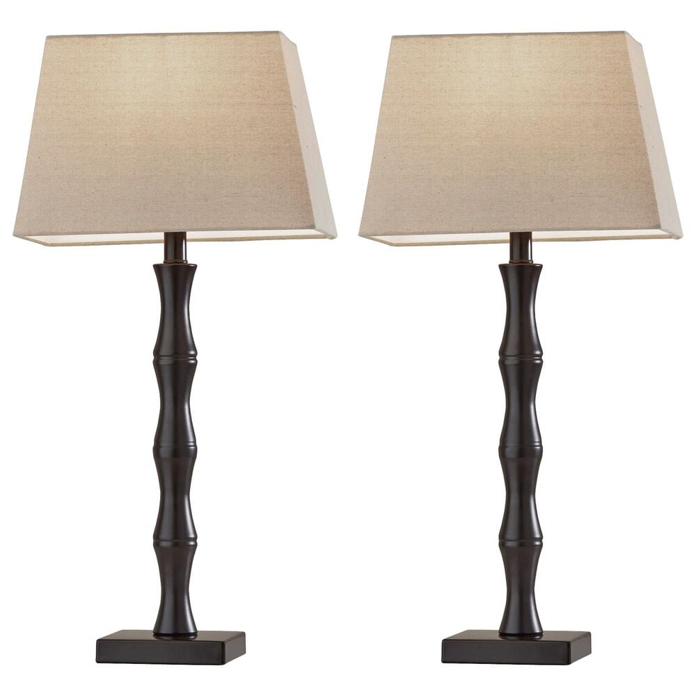 Adesso Wayne 2-Piece Table Lamp Set in Black, , large