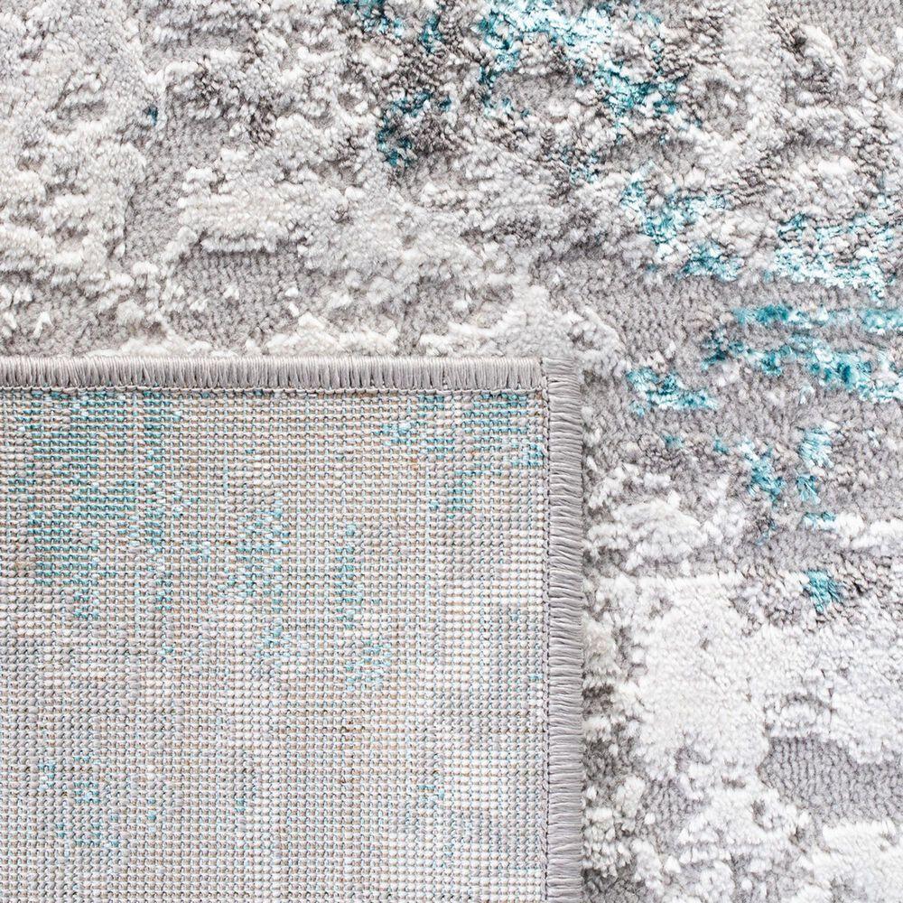 Safavieh Amelia 2' x 8' Grey and Turquoise Area Rug, , large