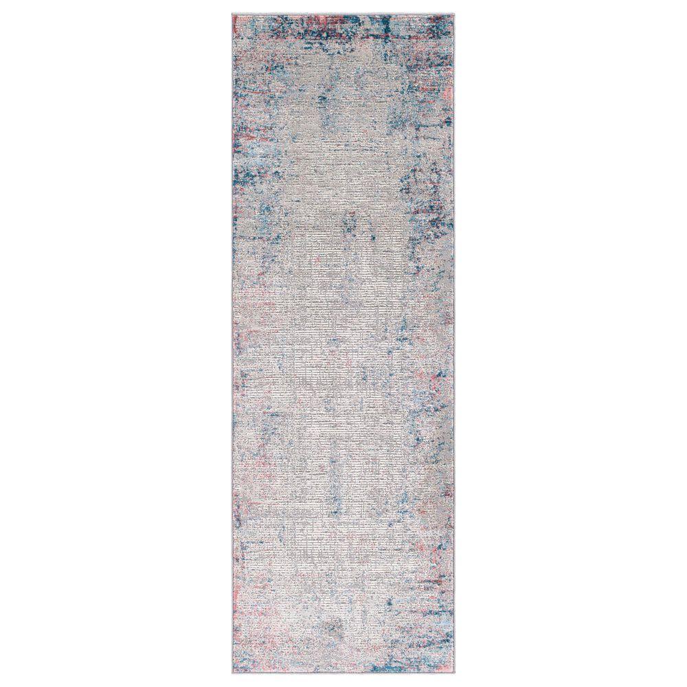 "Surya Tibetan TBT-2321 2""7"" x 7""7"" Rust, Ivory, Green, Teal and Pink Runner, , large"