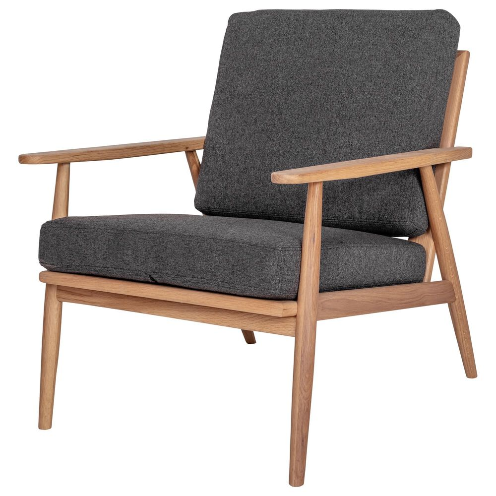 Moe's Home Collection Harper Lounge Chair in Anthracite, , large