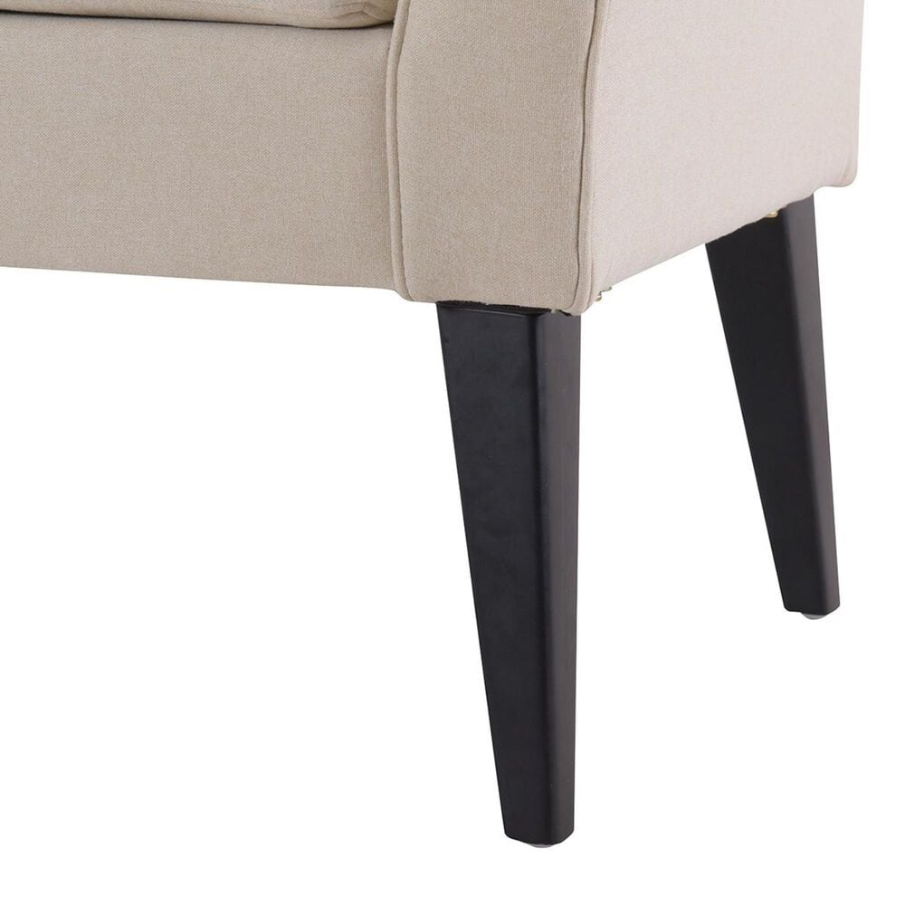 Jennifer Taylor Home Alexis Flared Arm Entryway Bench in Sky Neutral, , large