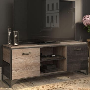 """Bush Refinery 60"""" TV Stand in Rustic Gray, , large"""