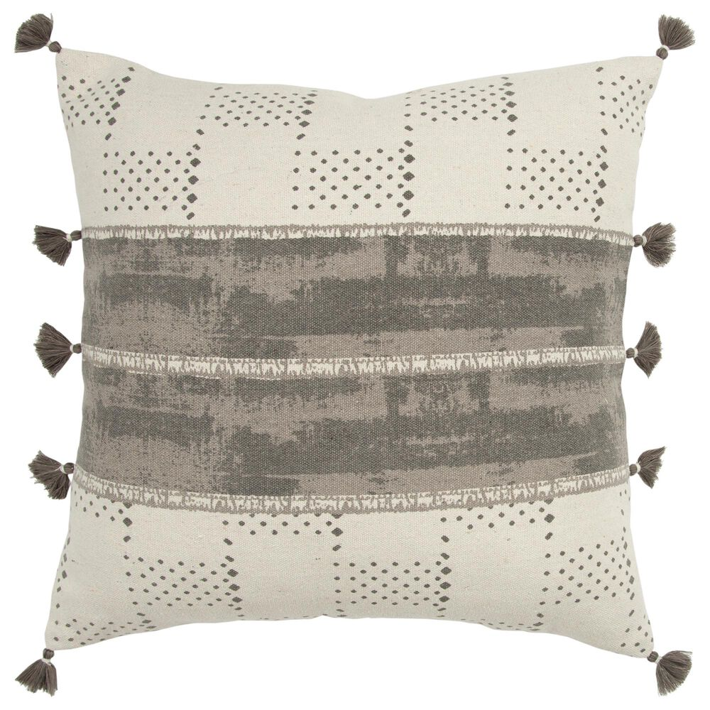 """Rizzy Home Donny Osmond 20"""" Poly Filled Pillow in Charcoal, , large"""