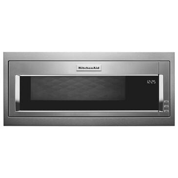 KitchenAid 1.1 Cu. Ft. Built-In Low Profile Microwave with Slim Trim Kit in Stainless Steel, , large