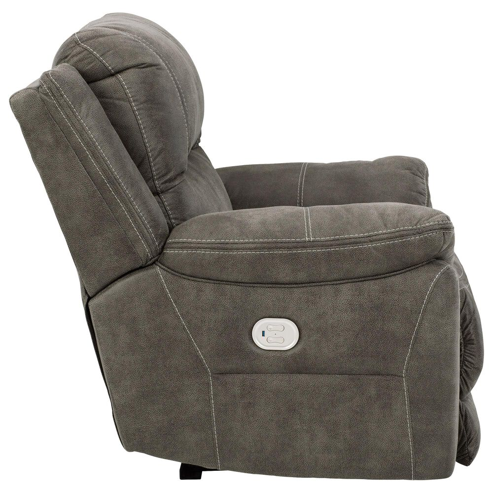 Signature Design by Ashley Cranedall Wide Seat Power Recliner in Quarry, , large