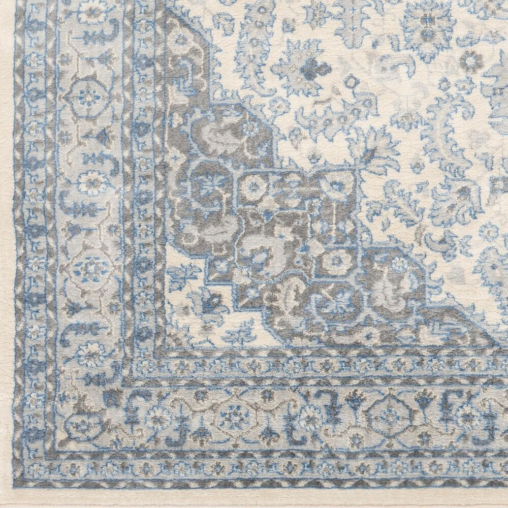 Surya Monaco MOC-2313 2' x 3' Bright Blue and Cream Scatter Rug, , large