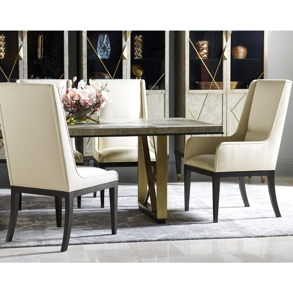 "Jonathan Charles Fine Furniture Geometric 108"" Dining Table in Dark French Oak, , large"