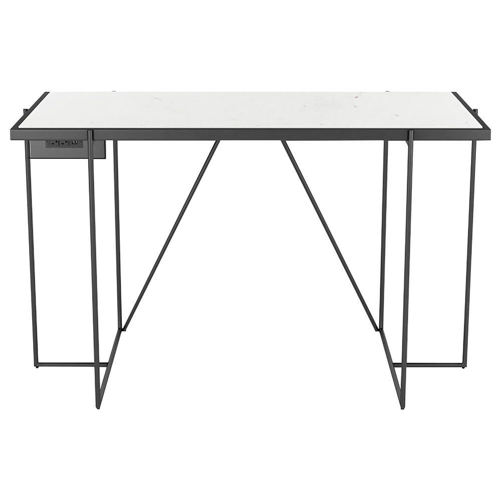 Zuo Modern Winslett Desk Clear White and Matte Black, , large