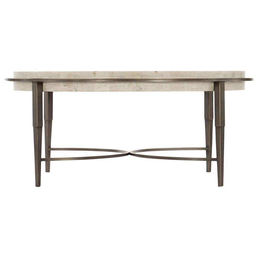 Bernhardt Barclay Round Cocktail Table in Antique Pewter, , large