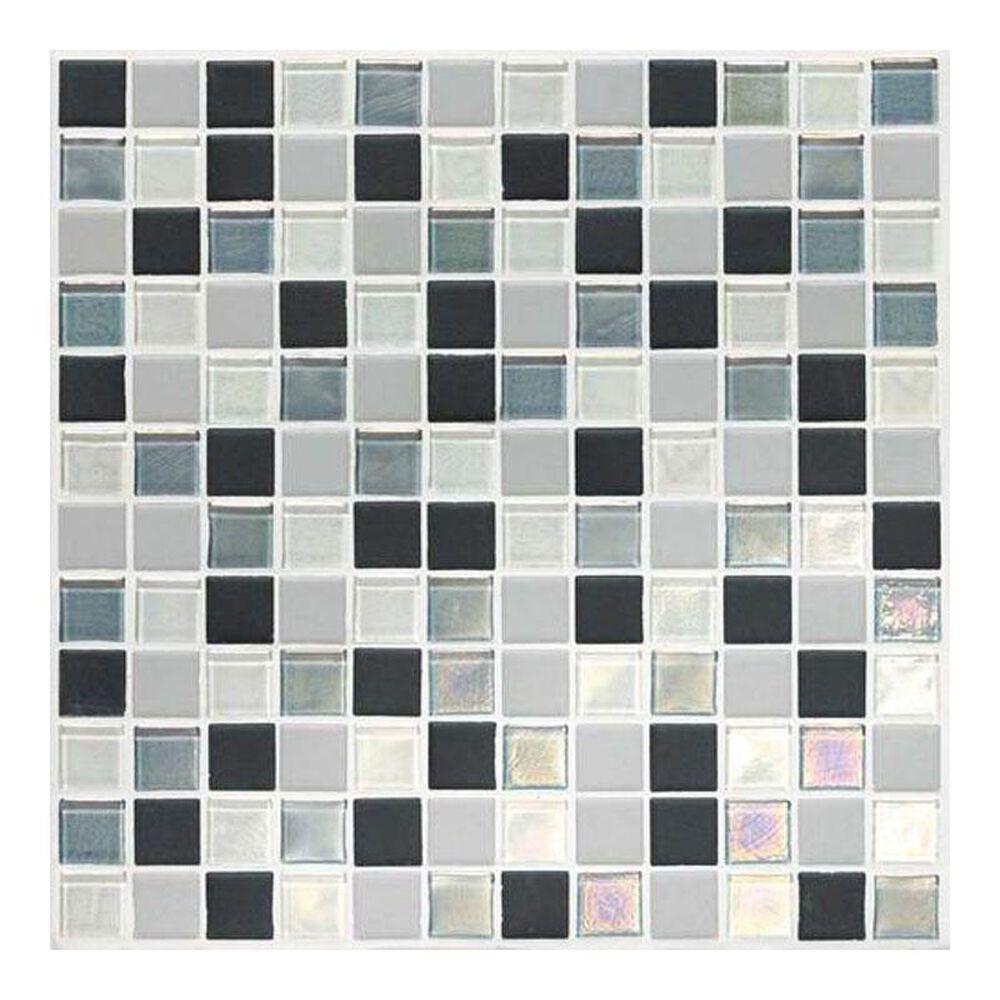 """Dal-Tile Coastal Keystones Tropical Thunder 12"""" x 24"""" Glass and Stone Mosaic Sheet, , large"""