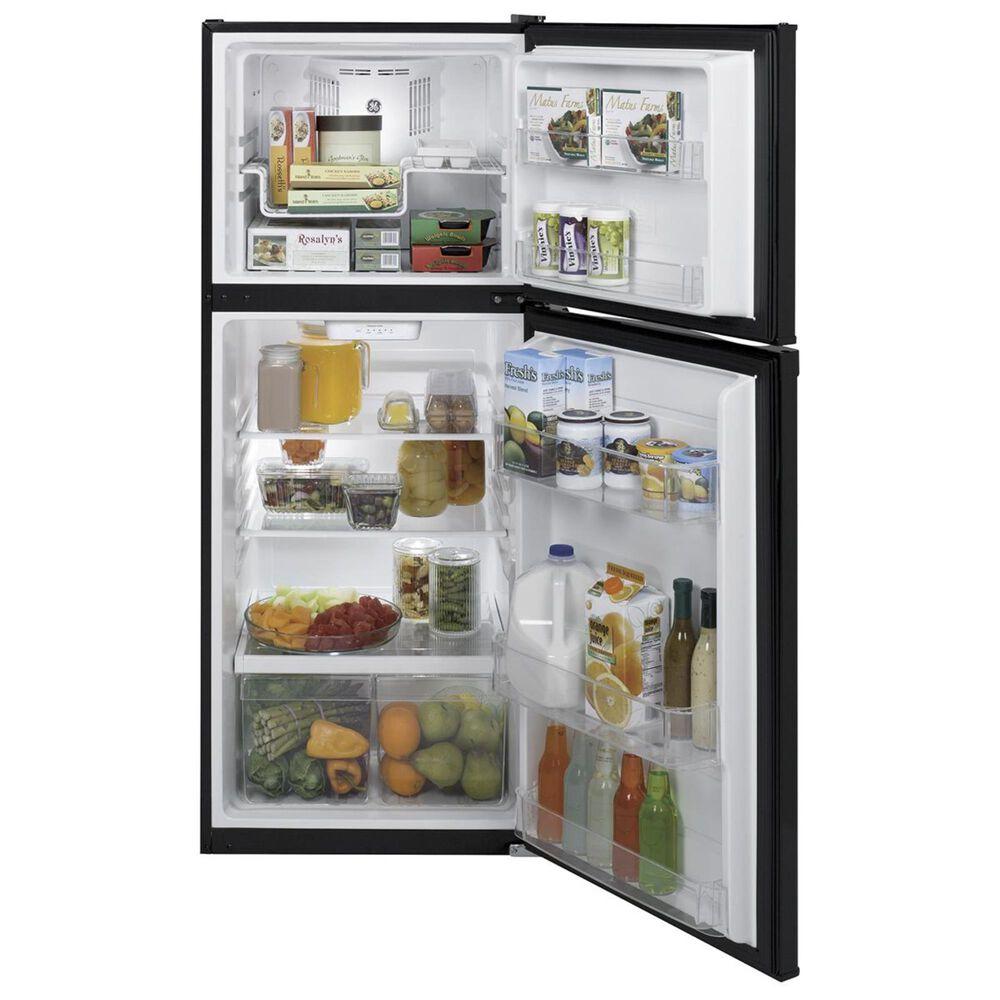 GE Appliances 11.6 Cu. Ft. Top-Freezer Refrigerator in Black, , large