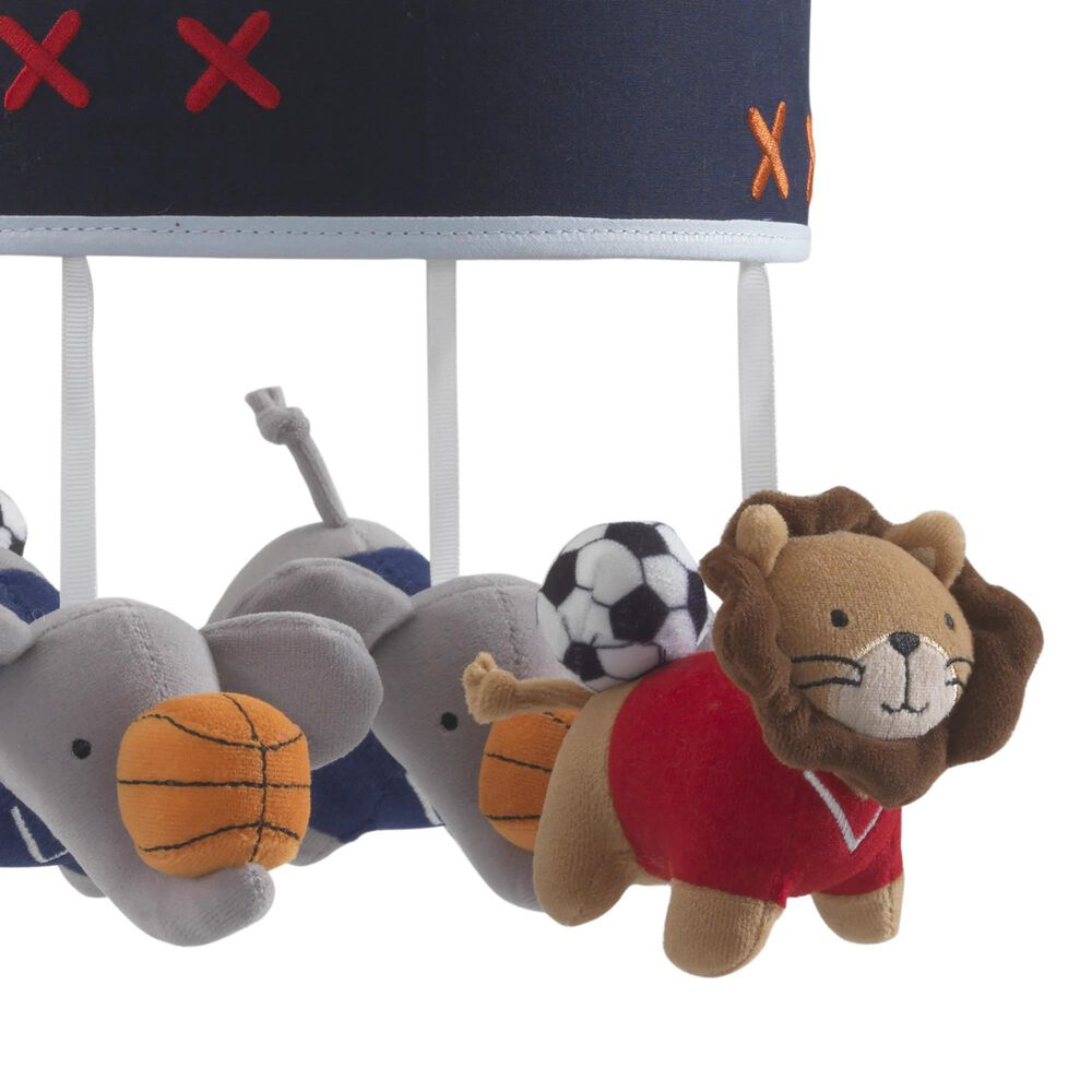 Lambs and Ivy Animal Sports Musical Mobile, , large