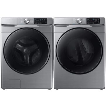 Samsung 4.5 Cu. Ft. Front Load Washer and 7.5 Cu. Ft. Electric Dryer Laundry Pair in Platinum, , large
