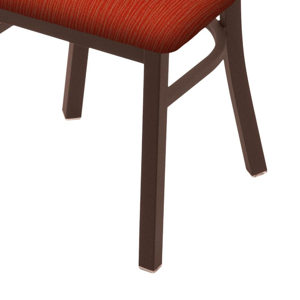 """Holland Bar Stool 620 Catalina 18"""" Chair with Bronze and Graph Poppy Seat, , large"""