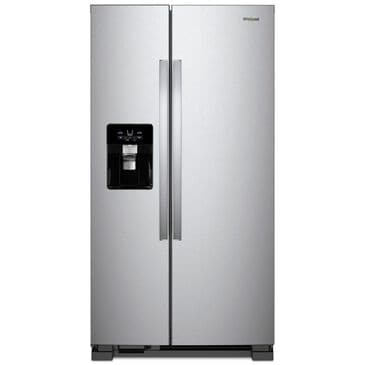 "Whirlpool 24.5 Cu. Ft. 36"" Wide Side-by-Side Refrigerator in Fingerprint Resistant Stainless Steel , , large"