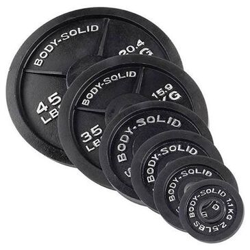 Body Solid 255lb Olympic Weight Plates Set, , large