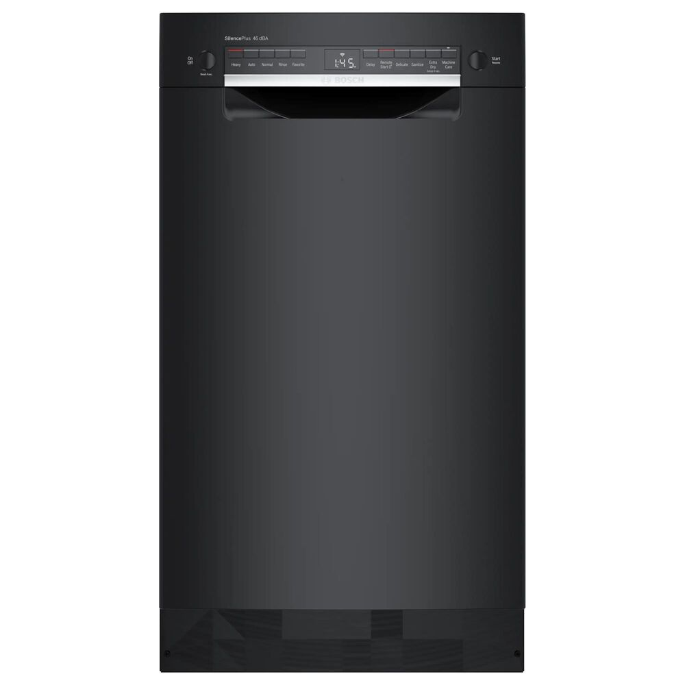 """Bosch 300 Series 18"""" Recessed Handle Dishwasher in Black, , large"""