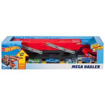 Hot Wheels Mega Hauler + 4 Cars Vehicles, , large