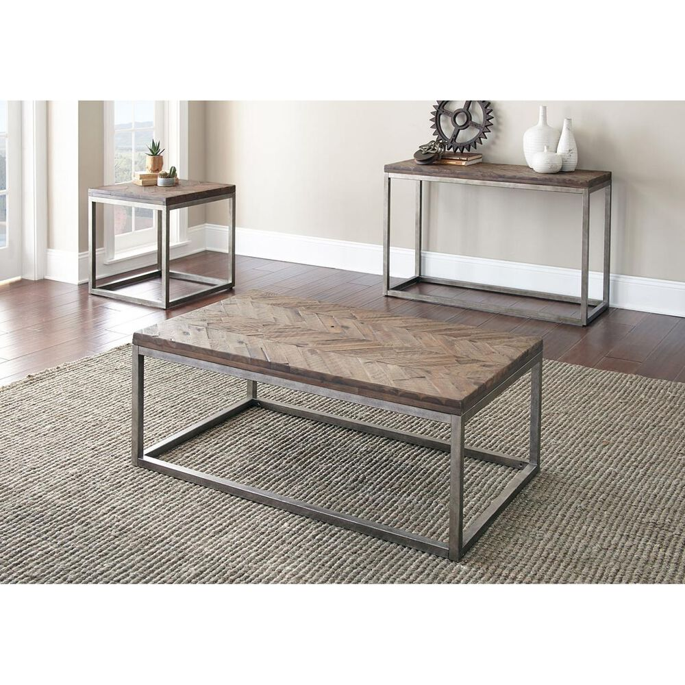 Crystal City Lorenza End Table in Honey, , large