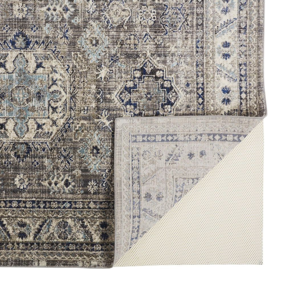 Feizy Rugs Bellini 2' x 8' Gray and Blue Runner, , large