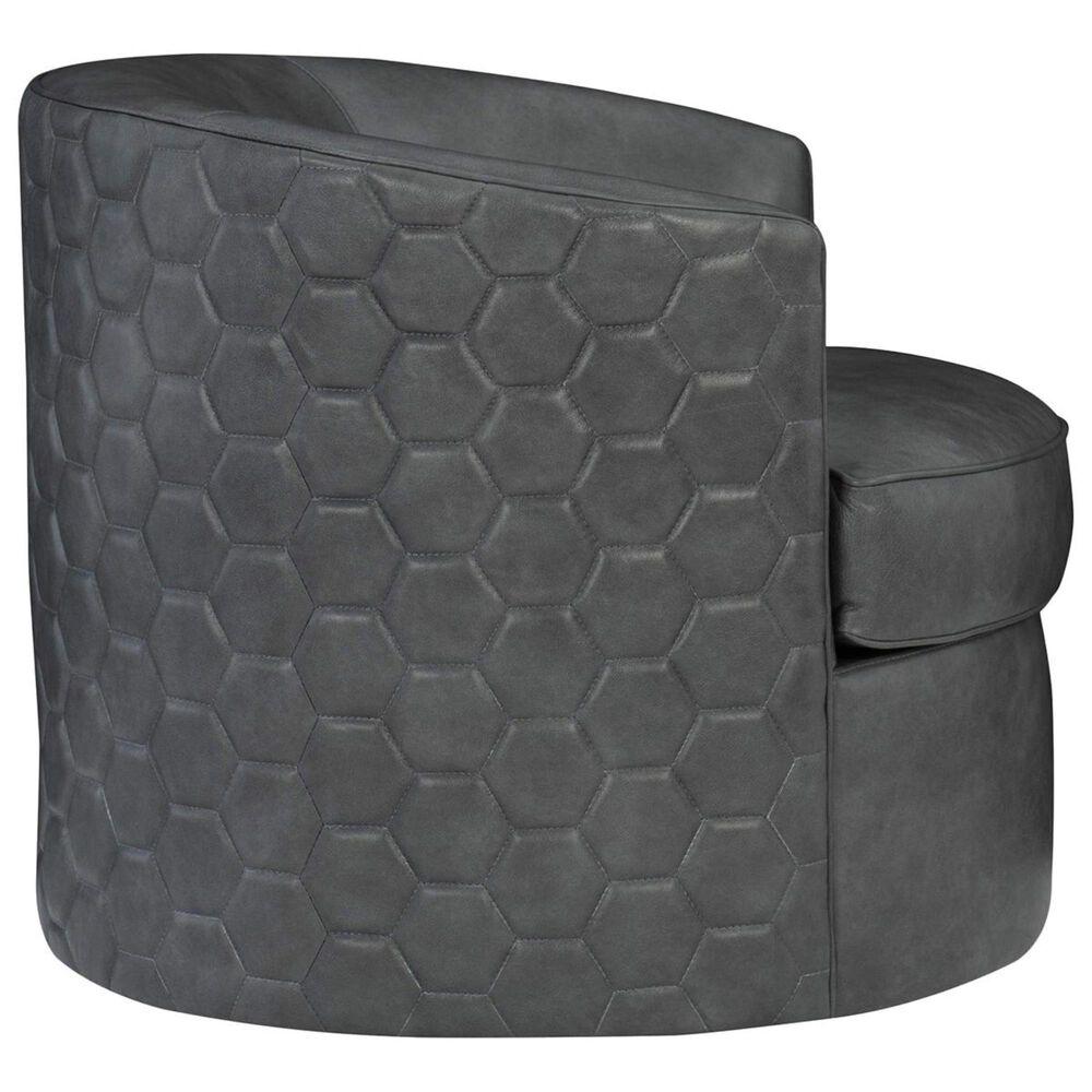 Bernhardt Corbin Leather Swivel Chair in Smoke, , large
