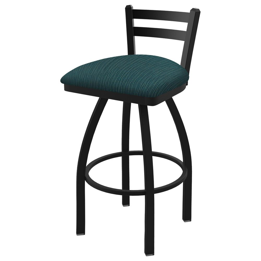 """Holland Bar Stool 411 Jackie 25"""" Low Back Swivel Counter Stool with Black Wrinkle and Graph Tidal Seat, , large"""