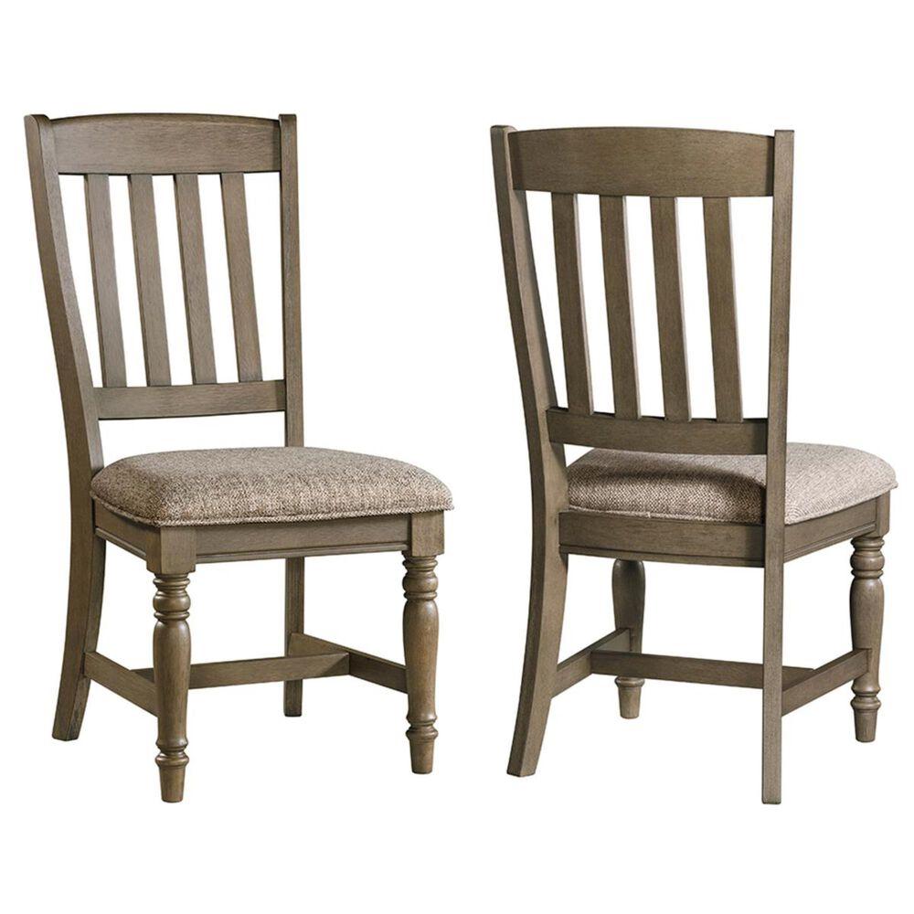 Hawthorne Furniture Balboa Park Slat Back Side Chair in Roasted Oak, , large