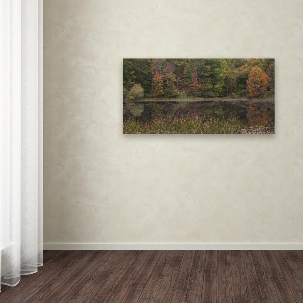 """Timberlake 24"""" x 47"""" October on the Pond Canvas Art, , large"""