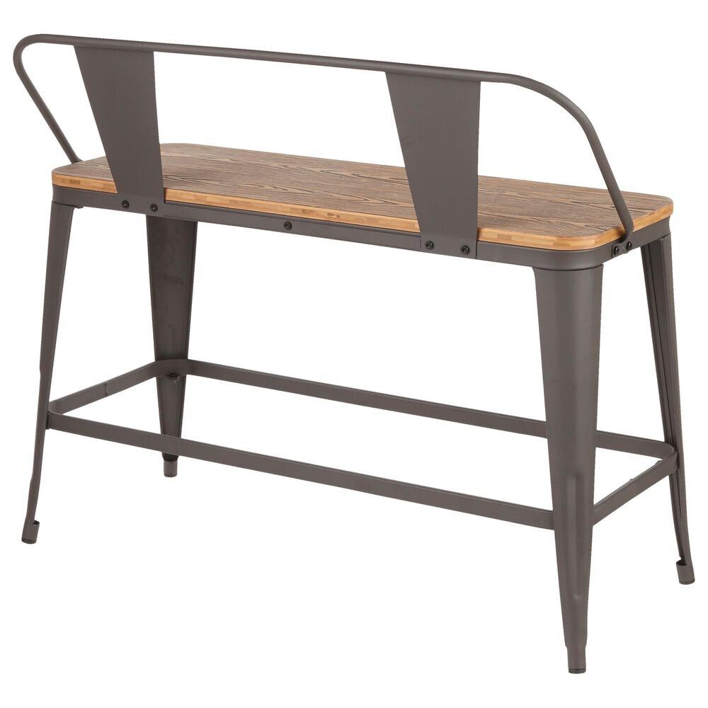 Lumisource Oregon Counter Bench in Grey/Brown, , large