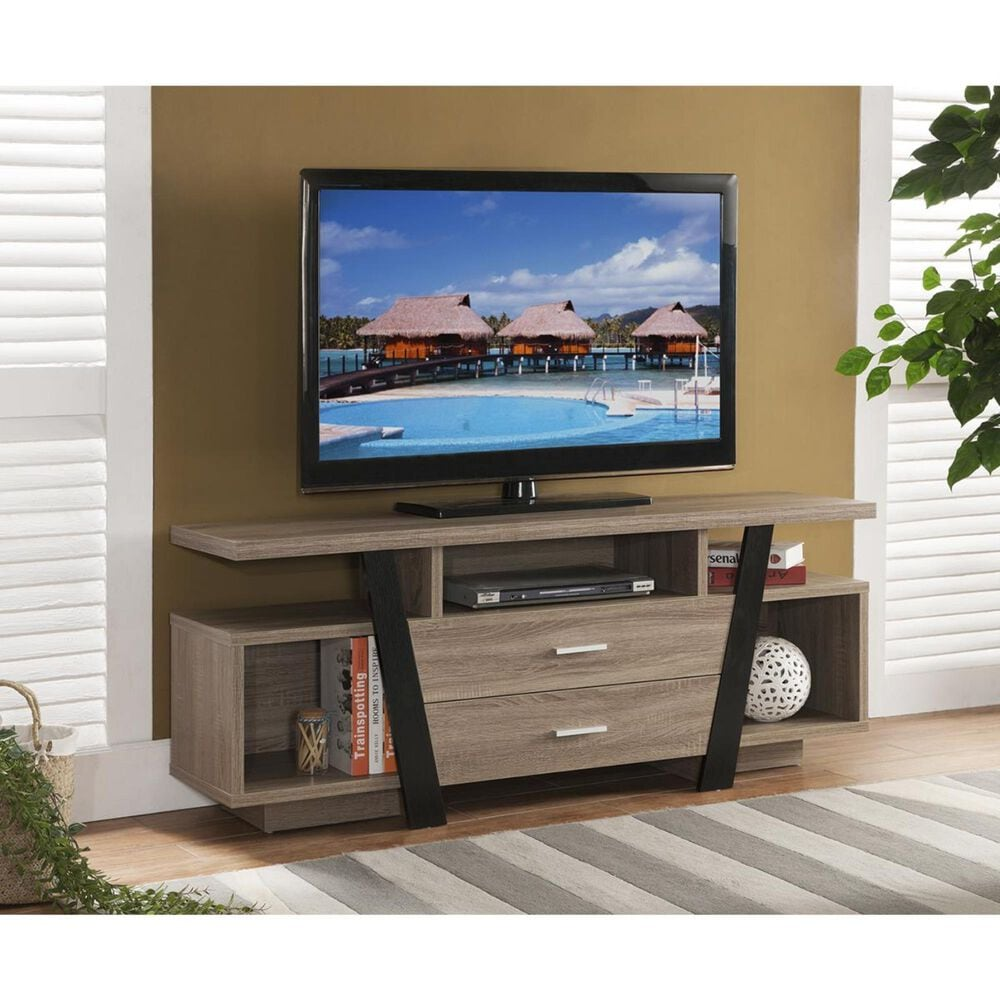 "Global Movement 60"" TV Stand in Dark Taupe, , large"