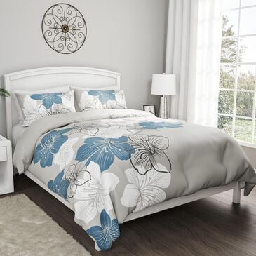 """Timberlake Lavish Home """"Enchanted"""" 3-Piece Full/Queen Comforter Set in Blue & White Floral, , large"""