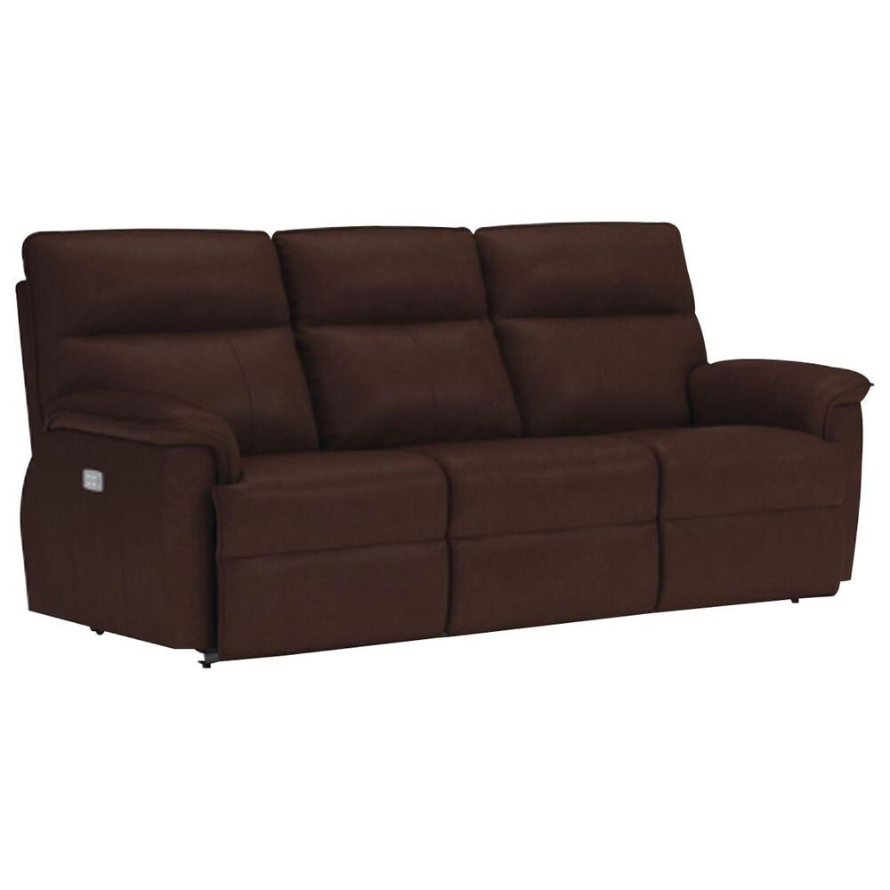 La-Z-Boy Jay Leather Power Reclining Sofa with Headrest in Chocolate, , large