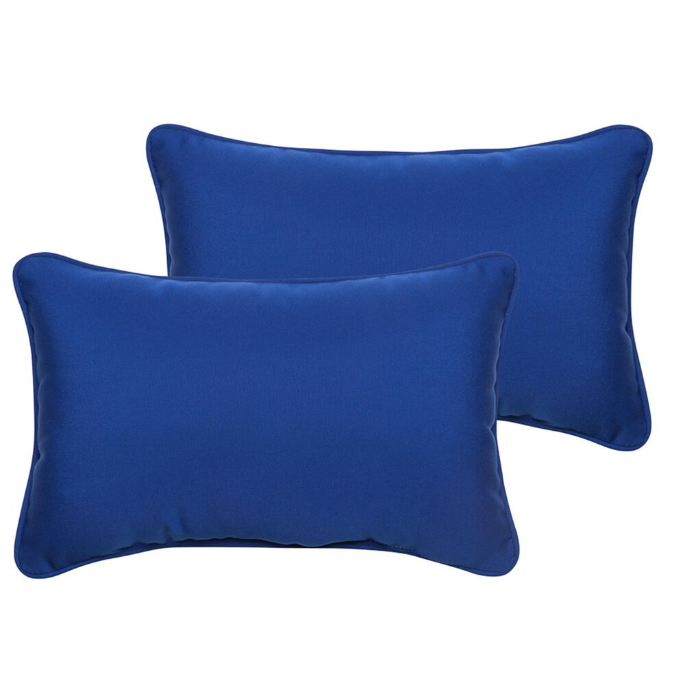 "Sorra Home Sunbrella 13"" x 20"" Pillow in Canvas True Blue (Set of 2), , large"