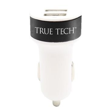 True Tech 2.1amp Dual USB car Charger, , large