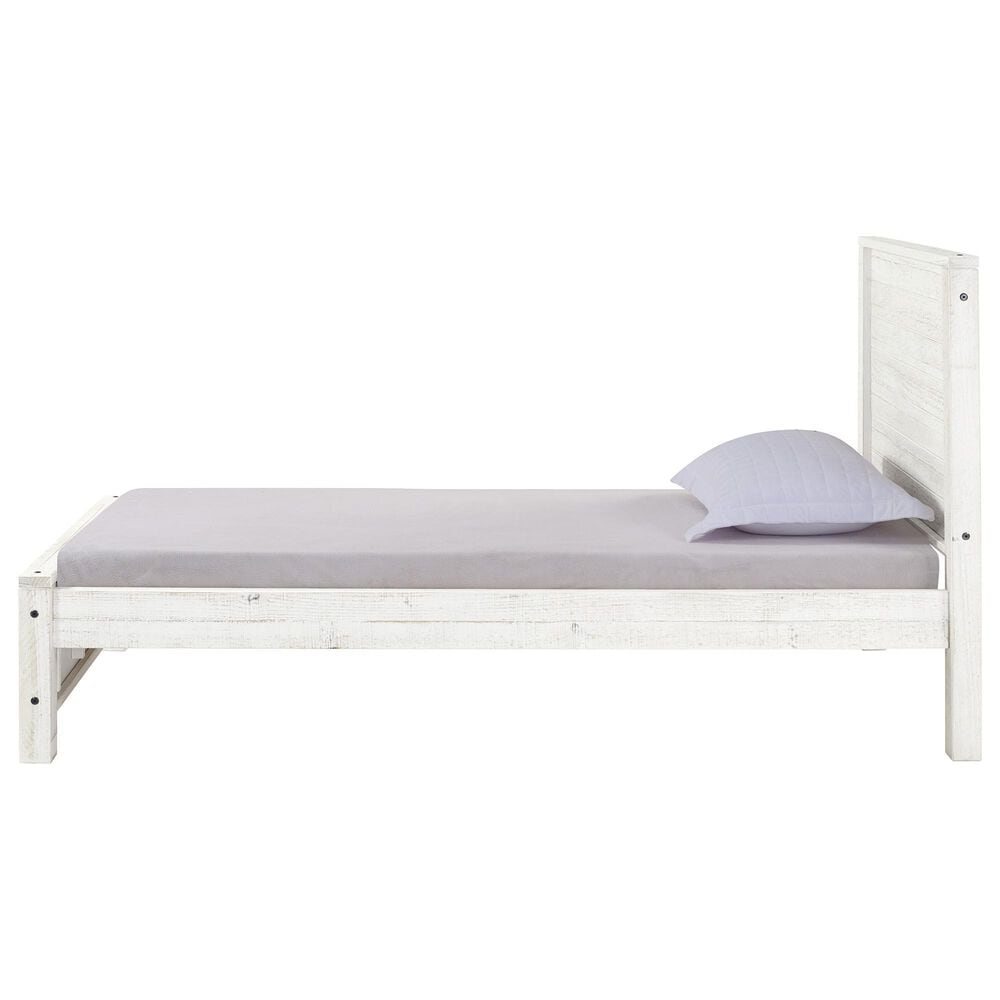 Bolton Furniture Rustic Twin Bed in Rustic White, , large