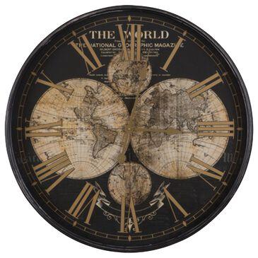 Yosemite Home Decor Wealth of Wonder Clock in Black, , large