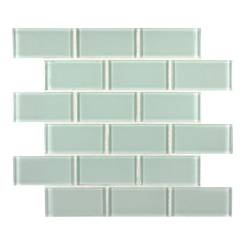 "MS International Arctic Ice 12"" x 12"" Crystallize Glass Mosaic Sheet, , large"