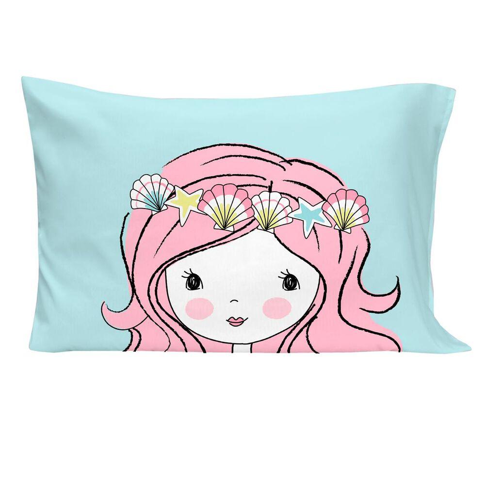 Crown Crafts Mermaid 4 Piece Toddler Bed Set , , large