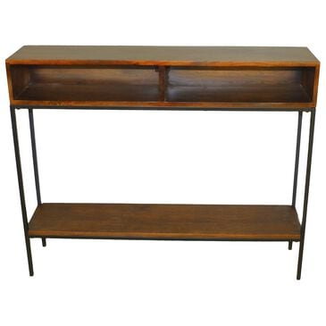 Carolina Cottage Edvin Console Table in Chestnut and Black, , large