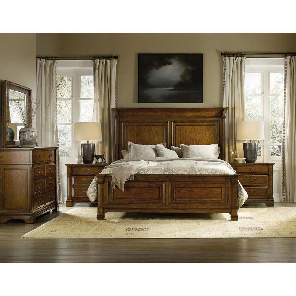 Hooker Furniture Tynecastle California King Panel Bed in Figured Alder, , large