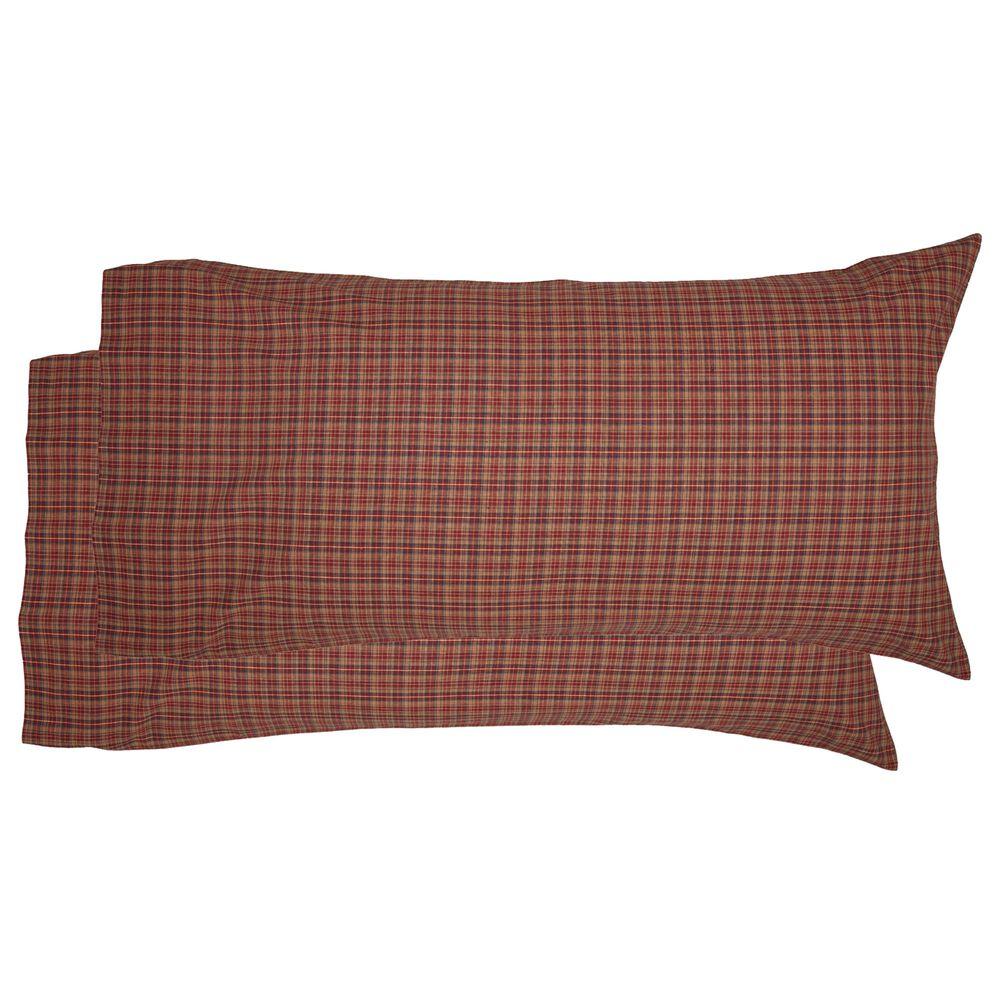 VHC Parker Primitive King Pillow Case Set in Burgundy, , large