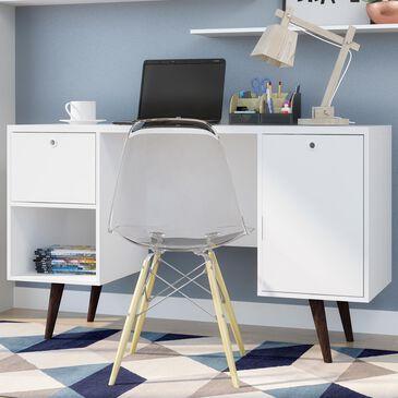 Dayton Edgar 1-Drawer Office Desk in White, , large