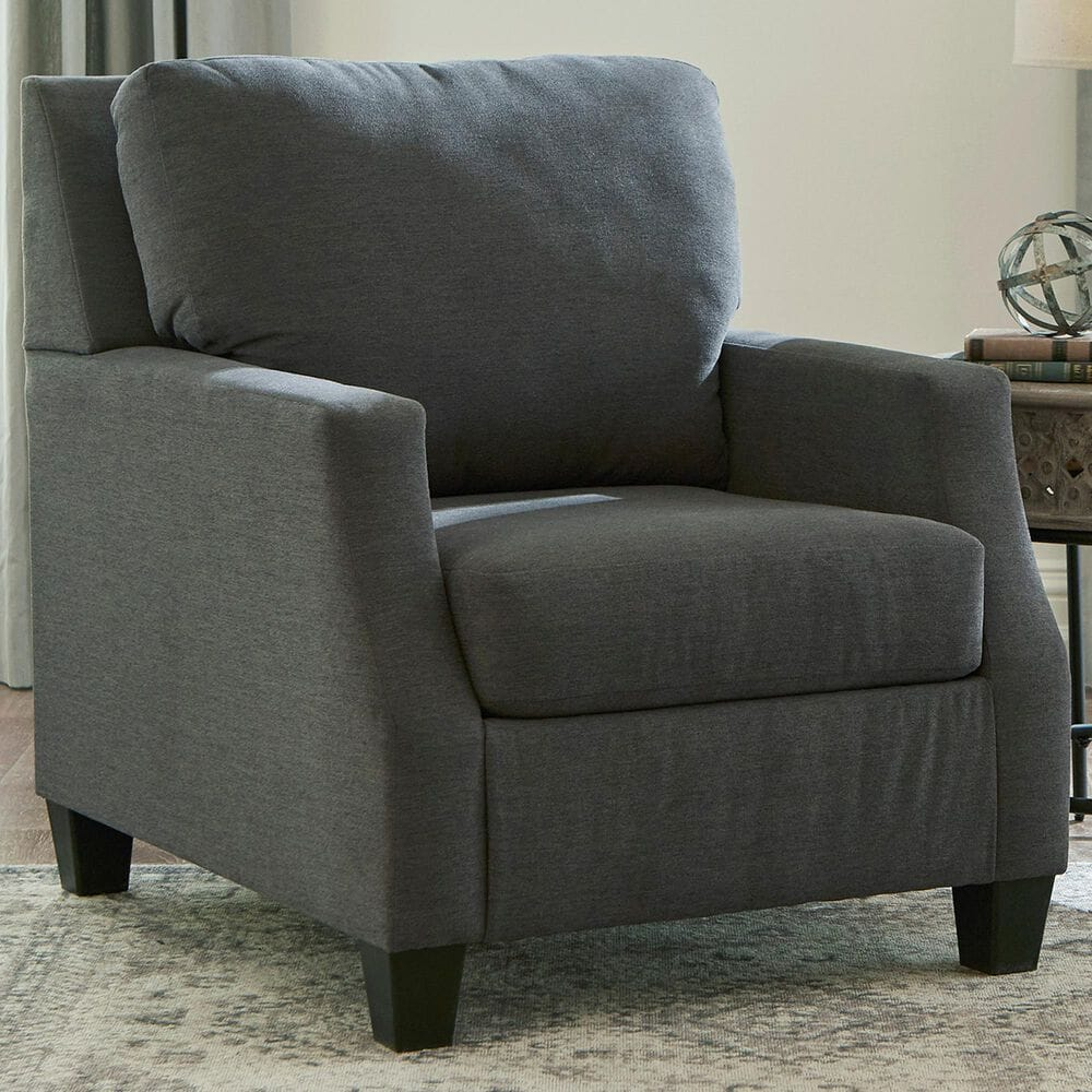 Signature Design by Ashley Bayonne Accent Chair in Charcoal, , large