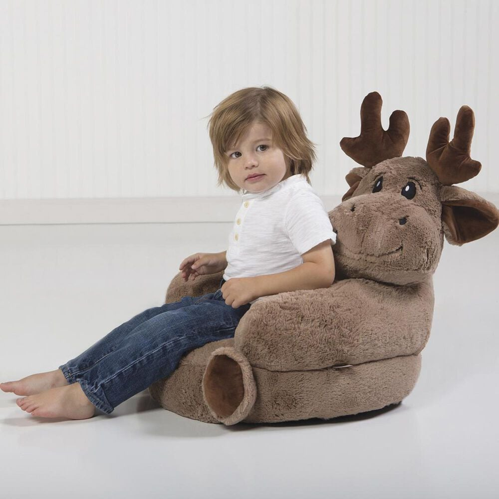 Trend Labs Children's Plush Moose Character Chair, , large
