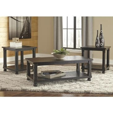 Signature Design by Ashley Mallacar 3-Pack Occasional Table in Black, , large