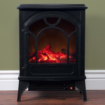 Timberlake Classic Log Electric Fireplace in Black, , large